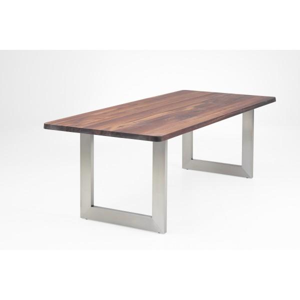 Tisch L1 U-Profil - Nussbaum
