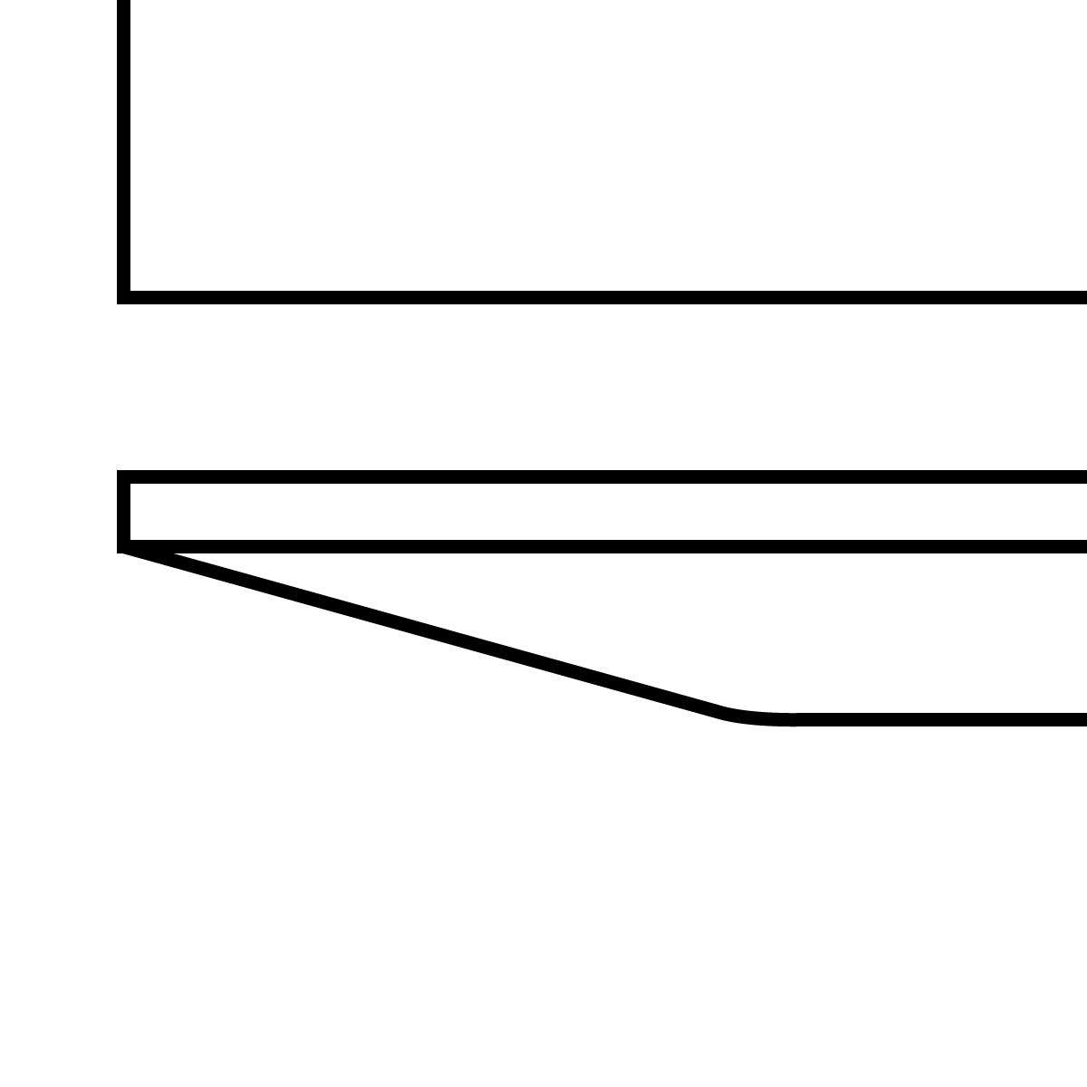 Tischplatte mit schweizer Kante