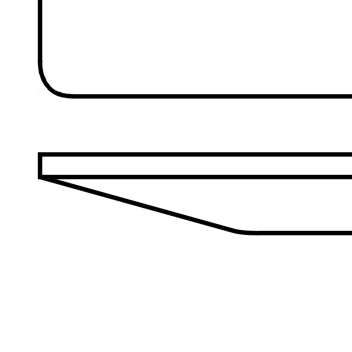 Tischplatte mit schweizer Kante gerundet