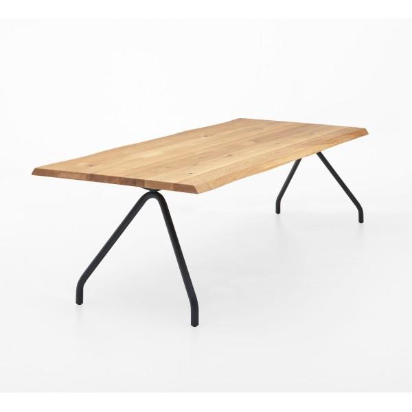Tisch Q Spider Fuß - Eiche 3cm