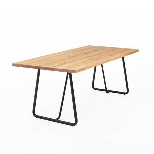 Tisch ZBU dicke Kufe - Eiche 4cm