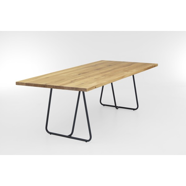 Tisch U Kufe - Eiche 3cm