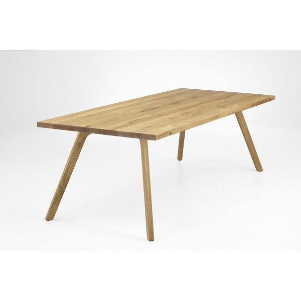 Tisch F Holzbeine - Eiche 4cm
