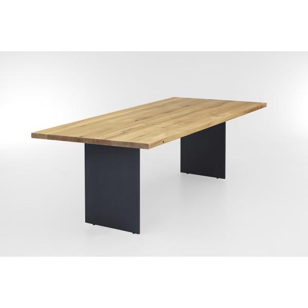 Tisch S Stahlwange - Eiche 3cm