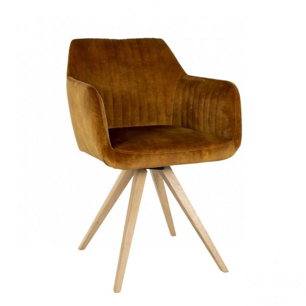 Stuhl Enrique mit Holzbeinen Nouvion