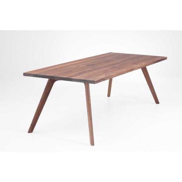 Tisch N Holzbeine - Nussbaum