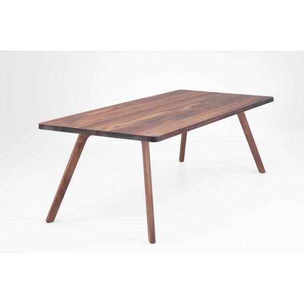 Tisch F Holzbeine - Nussbaum