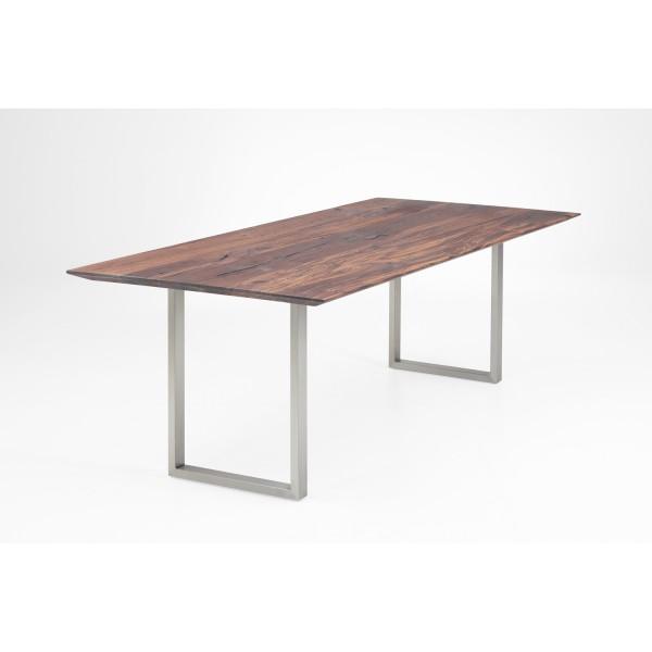 Tisch E1 U-Profil - Nussbaum