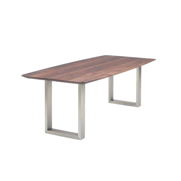 Tisch D1 U-Profil - Nussbaum