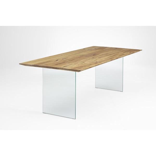 Tisch K Glaswange - Eiche 4cm